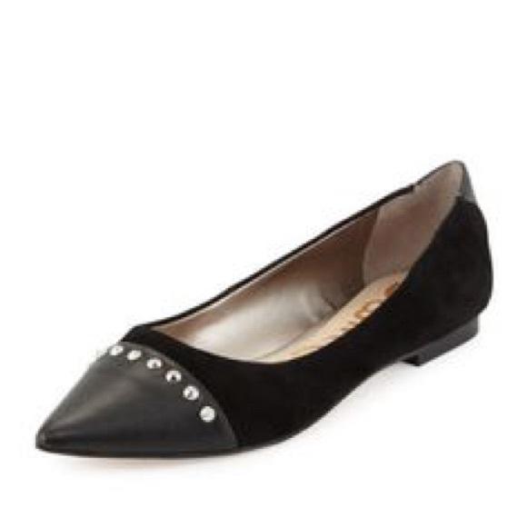 5a65fe70731a Sam Edelman Risa Black Studded Pointy Toe Flats. M 5b2a98d4619745d4013002df